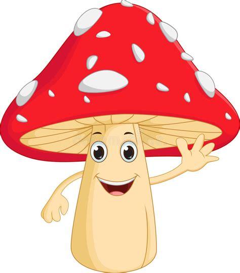happy mushroom cartoon stock vector illustration