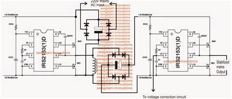 Mains Voltage Stabilizer Circuit Without Relays
