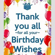 Thank You All For All Your Birthday Wishes Poster  Miriam  Keep Calmomatic