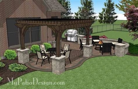 my patio design curvy backyard patio design with pergola patio plan
