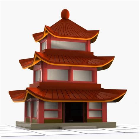 china house in 3ds house