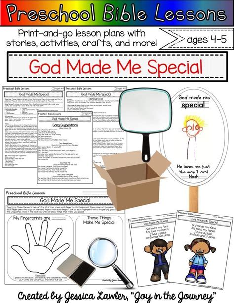 preschool bible lessons god made me special in 858 | 43eb8d024acc28a60197a7022f050f09
