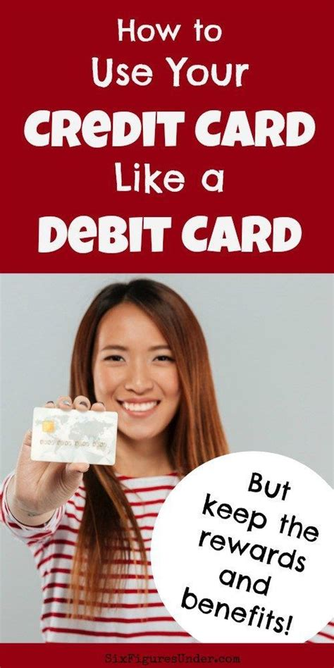 Learn how to use your credit the more money you can pay toward your credit card debt each month, the faster you'll eliminate what you take the first step. How to Use a Credit Card Like a Debit Card- Keep Benefits, Lose Debt - Six Figures Under | Small ...