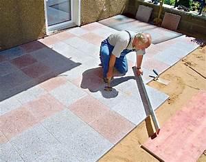 Betonplatten Verlegen Auf Erde : terrasse mit betonplatten steinterrasse bild 10 ~ Whattoseeinmadrid.com Haus und Dekorationen