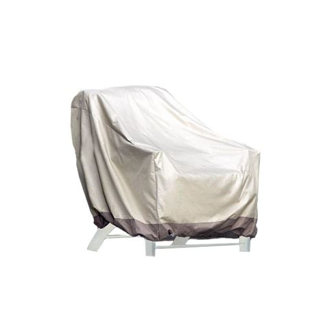 patio armor taupe polyester large patio chair