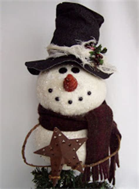 primitive country snowman tree topper happy valley primitives a new epattern meet my snowman tree topper
