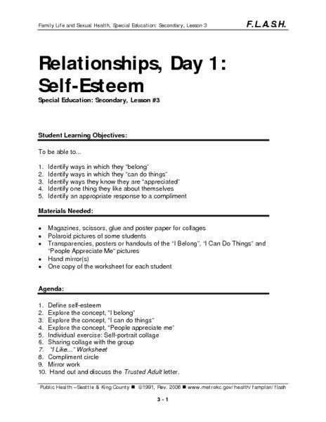 relationships day 1 self esteem lesson plan lesson 845 | c10a42019b2befa601e2cc9d49512aa1