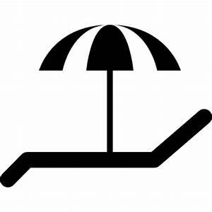 Liegestuhl und sonnenschirm fur die sonne download der for Französischer balkon mit sonnenschirm icon
