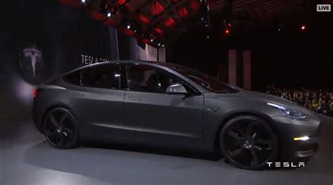 Tesla Model 3 Unveiling Pictures