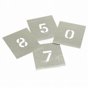 plain metal stencils 0 to 8 number set ls engineers With metal letter and number stencils