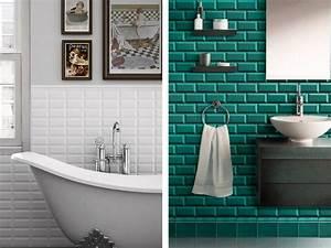 Carreau Metro Blanc : carrelage salle de bain turquoise 2017 avec carrelage mural turquoise images salle de bains avec ~ Preciouscoupons.com Idées de Décoration