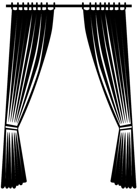 Silhouette Drapes - curtain silhouette free vector silhouettes