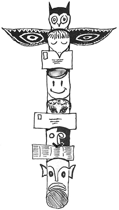 Tiki Totem Templates by Totem Pole Coloring Tiki Pages Page Grig3 Org