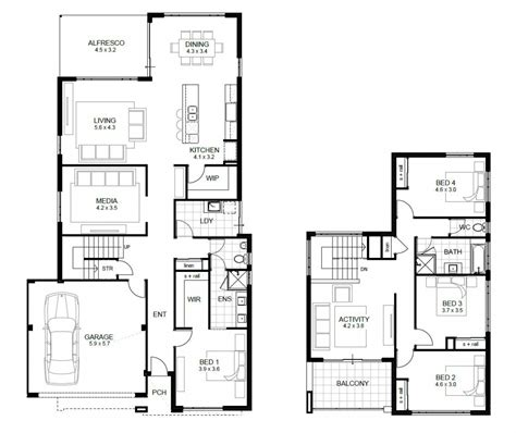 house plan ideas 4 bedroom house plans with garage