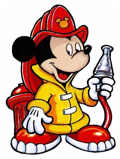 Firefighter Fireman Clip Mickey Mouse Clipart Disney