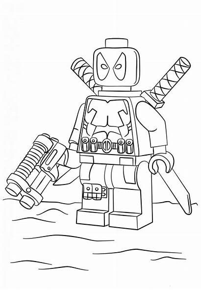 Deadpool Coloring Printable Lego
