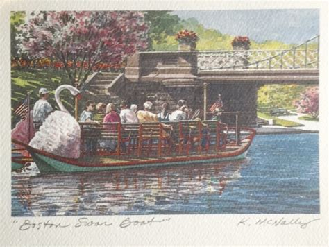 Swan Boats Charles River by Quot Boston Swan Boat Quot Mcnally