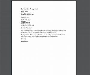 10 resignation letter template examples templates assistant With draft letter of resignation template