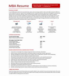 mba resume template 11 free samples examples format With free candidate resumes