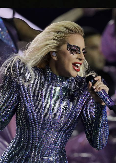 lady gagas halftime performance  super bowl  jumps