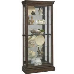 sliding front curio in brown by pulaski home gallery stores