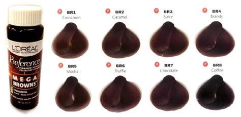 6 Best Images Of L'oreal Mega Browns Color Chart