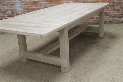 white washed table ls white washed farm table with stretcher lake and mountain