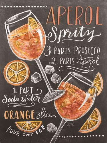 aperola spritz chalkboard recipes aperol spritz