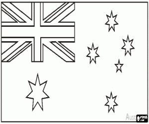 Avustralya Bayrağı Boyama Resimlere Göre Ara Red