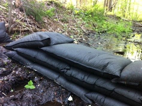 reusable sand  bags  hold  water flood