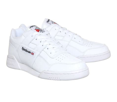 reebok workout plus in white for lyst