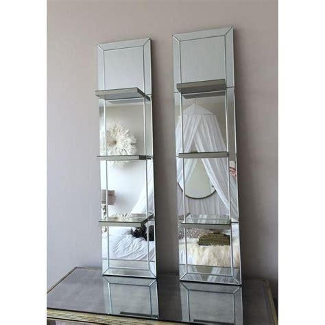 Bedroom Mirrors With Shelf by Image Of Mirrored Shelf Wall Panels A Pair Whimsical