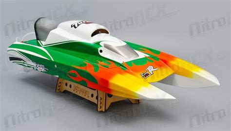 Nitrorcx Boats by Exceed Racing Fiberglass Spider 26cc Gas Powered Artr