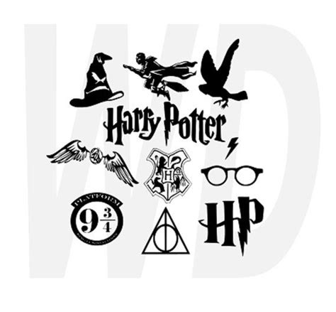 free silhouette cameo designs harry potter svg dxf eps cutting files for by