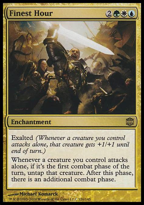 Mtg Exalted Deck by Finest Hour Mtg Card