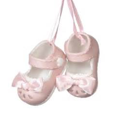 buy porcelain pink baby shoes holiday christmas ornaments gifts tree decorations