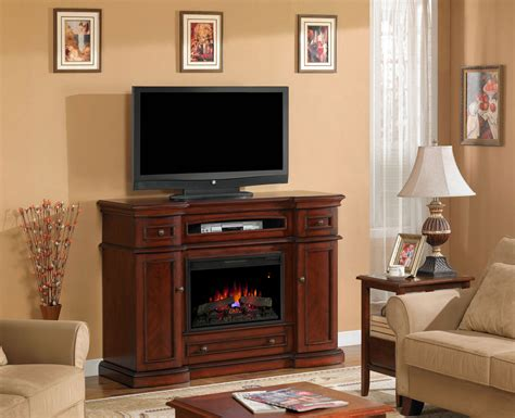 cherry media electric fireplace montgomery 26 quot vintage cherry media console electric