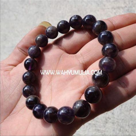 gelang batu kecubung ungu kode 197 wahyu mulia