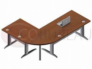 Bureau 140 Cm : ensemble bureau 140 cm pro m tal avec angle de liaison 90 ~ Teatrodelosmanantiales.com Idées de Décoration