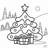 Coloring Tree Christmas Pages Printable Drawing Supercoloring Colorings Characters Categories sketch template