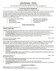 resumes of construction project managers construction project manager resume best business template