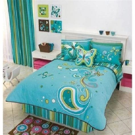 image blue and green bedroom decor