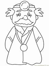 Coloring Doctor Docteur Coloriage Moustachu Doctors Surgeon Boyama Meslek Dessin Hula Template Popular Templates Printable Library Coloringpages101 Adults Negema Doc5 sketch template