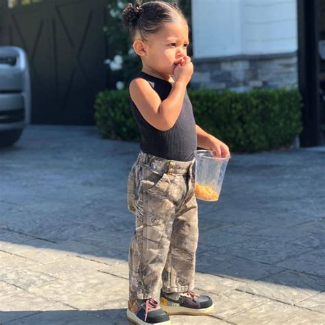 The little sweetheart is the perfect travel buddy for mom kylie. Travis Scott's New Photos of Stormi Webster Hit All the Right Notes | E! News Canada
