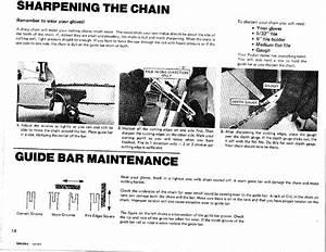 Sharpening The Chain  Guide Bar Maintenance