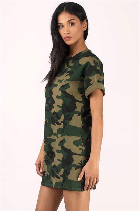 chagne color dress shirt olive dress camo dress green dress army print dress