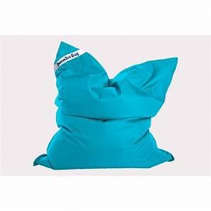 Coussin Bleu Pétrole : coussin jumbo bag orginal bleu petrole ~ Teatrodelosmanantiales.com Idées de Décoration