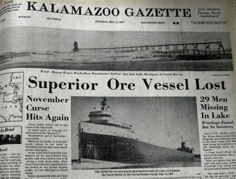 Edmund Fitzgerald Sinking Anniversary by 25 Best Ideas About Edmund Fitzgerald On