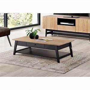 Table Basse Pin Massif : studio table basse style industriel en pin massif verniss ~ Teatrodelosmanantiales.com Idées de Décoration