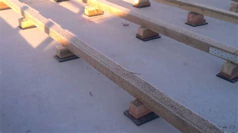Begehbares Flachdach Holzkonstruktion by Unterbau F R Holzterrasse